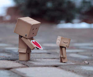 danbo, heart, and cute image