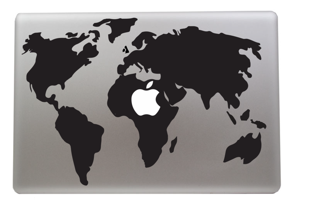 World map macbook decal vinyl infusion on we heart it gumiabroncs Images