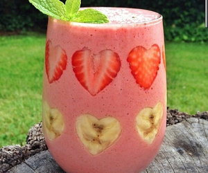 strawberry, banana, and smoothie image