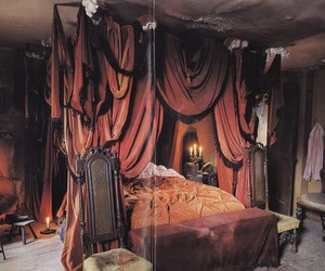 canopy bed and drapes image