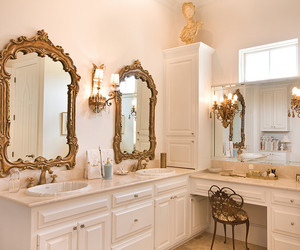 antique, custom, and bathroom image