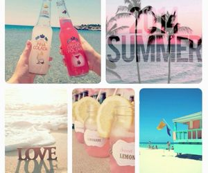 beach, coctail, and Miami image