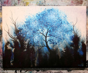 art, Darkness, and tree image