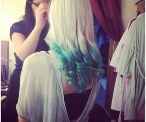 girl, pretty hair, and hair dyed image