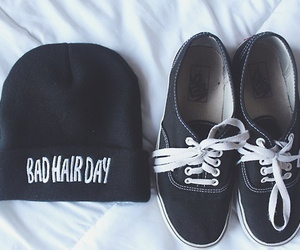fashion, vans, and bad hair day image
