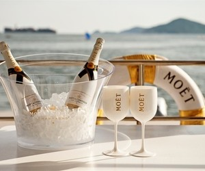 champagne, luxury, and moet image