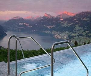 beautiful, mountains, and pool image