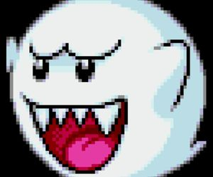 ghost, overlay, and pixel image