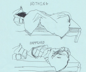 nothing, bed, and sleep image
