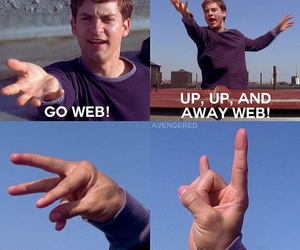 funny, spider-man, and Tobey Maguire image