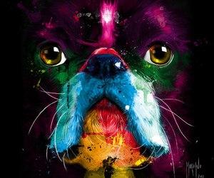 art, dog, and arte image