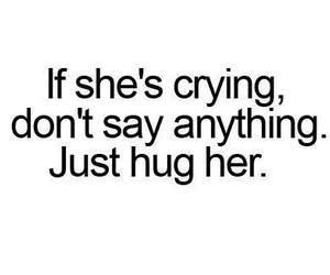 hug, quotes, and cry image