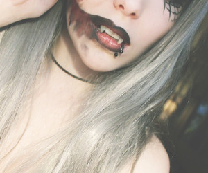 Halloween, piercing, and scary image