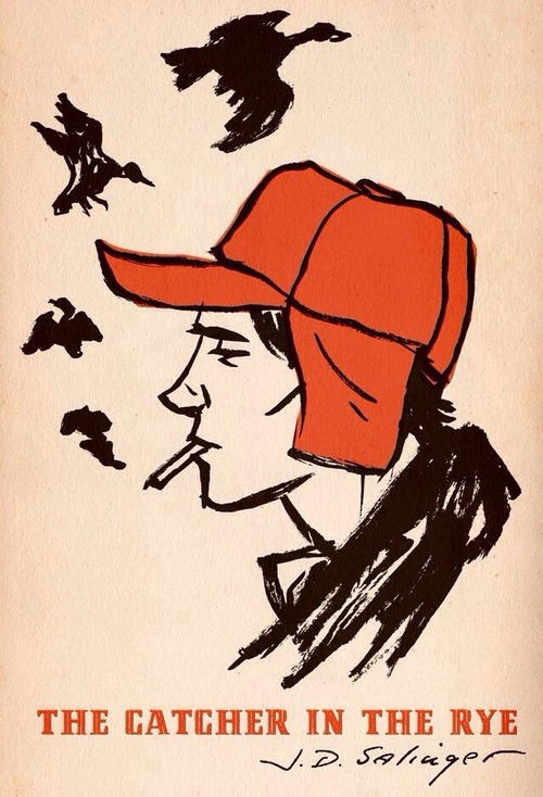 the catcher in the rye, holden caulfield, and Salinger image