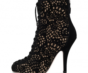 ankle boots, black, and delicate image