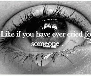 cry, quote, and someone image