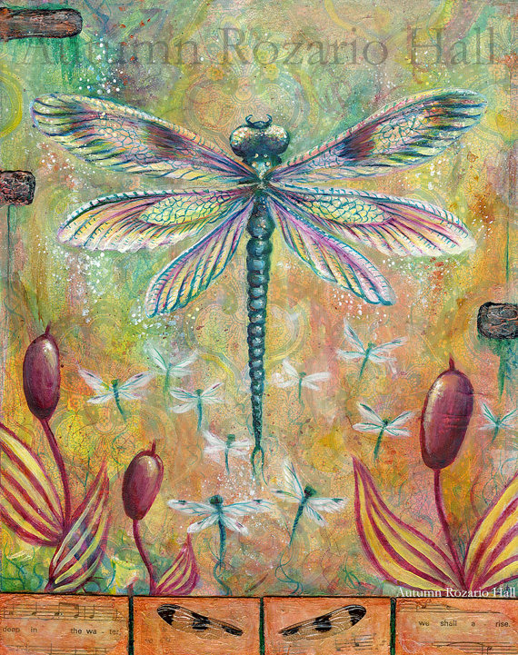 Rising Like Hope A Mixed Media Dragonfly On We Heart It