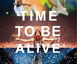 30 seconds to mars, echelon, and alive image
