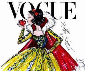 vogue, snow white, and disney image