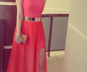 beautiful, dress, and coral image