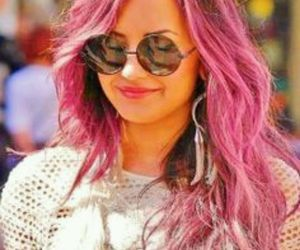 beatiful, demi lovato, and pink hair image