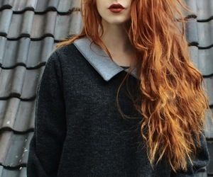 black, ginger, and hair image