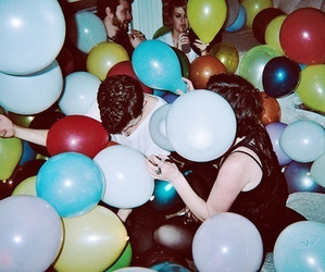 party, balloons, and boy image