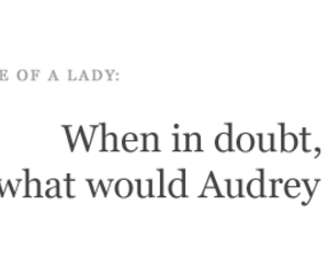 lady, rules, and audrey image