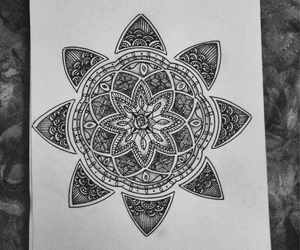 art, mandala, and picture image