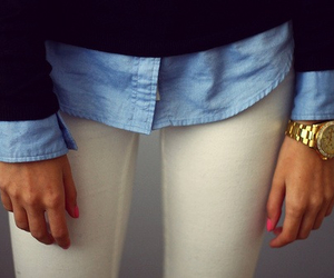 black, blue, and pants image