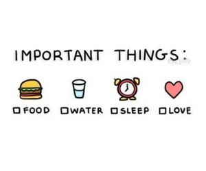 food, sleep, and yum image