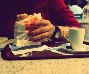 coffee, nails, and cute image