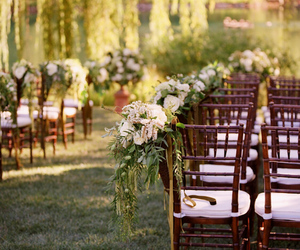 green, ceremony, and flowers image