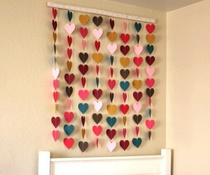 hearts, diy, and bedroom image