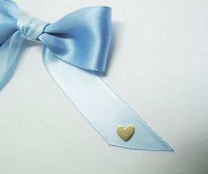 blue, alice in wonderland, and bow image