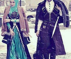 couple, hijab, and love image