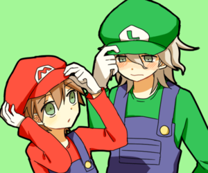 anime, luigi, and anime couple image