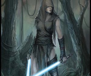 jedi, lightsabers, and star wars image