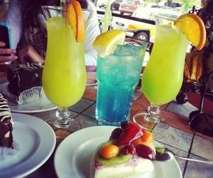drink, food, and blue image