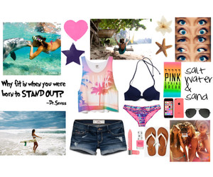 bathing suit, beach, and water image