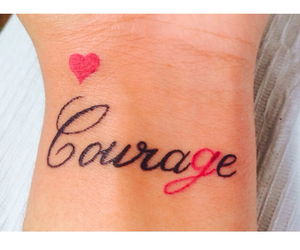courage, girly, and hearts image