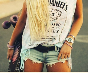 blonde, summer, and fashion image