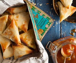 cheese, samosa, and spinach image