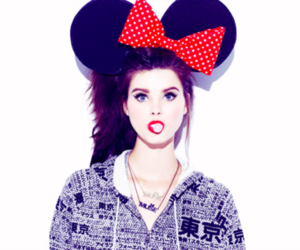 girl, minnie mouse, and minnie image