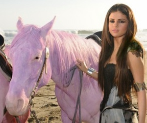 pink horse and selena gomez image