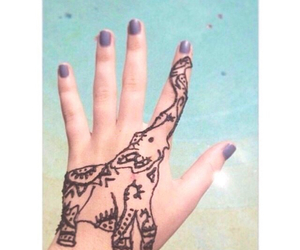 elephant, henna, and beach image