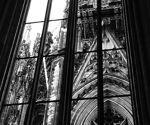 window and black and white image