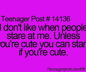 cute, stare, and teenager post image