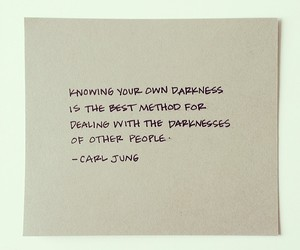 Darkness, quote, and carl jung image