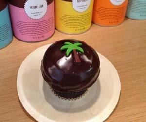 chocolate, cupcake, and sprinkles image